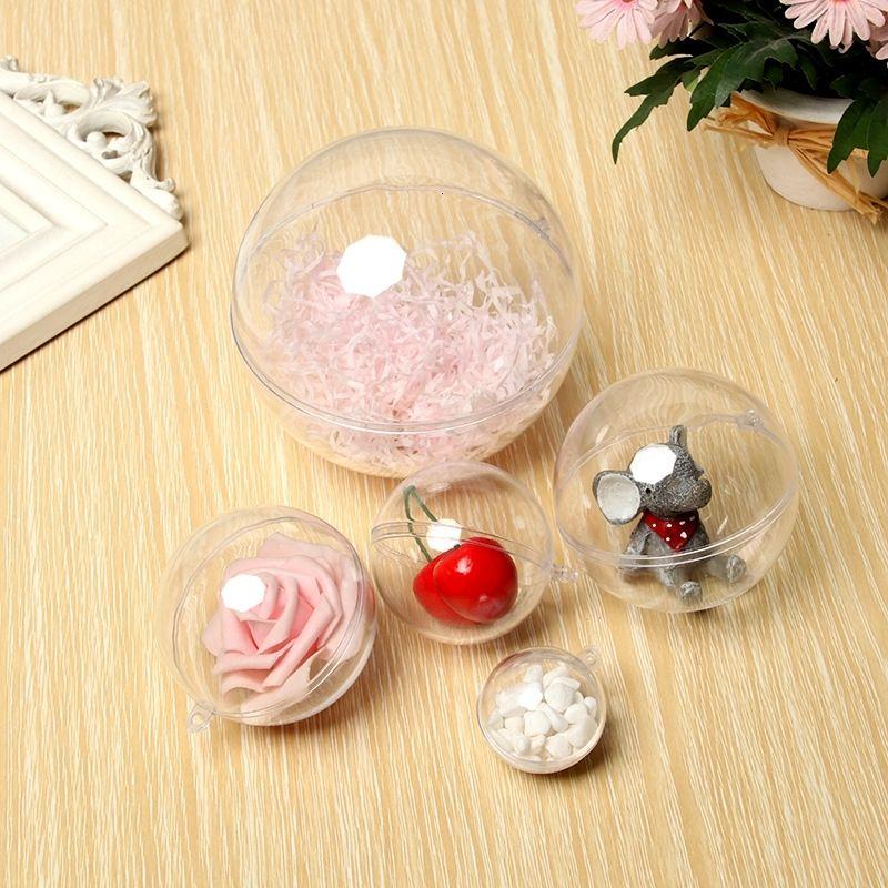 3-25CMPs alta transparente compras de Natal shopping festival criativo acrílico bola decorativo pendurado plástico oco