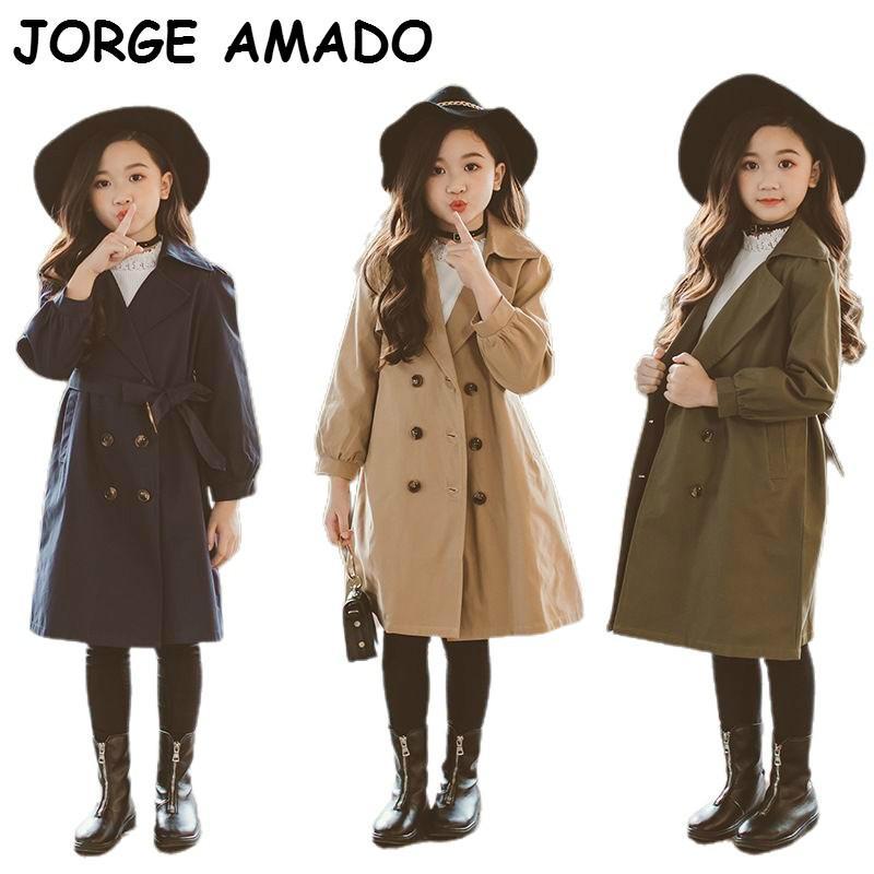 Famiglia Vestiti uguali Madre Figlia del cappotto di stile coreano del cappotto di polvere modo di genitore-bambino della famiglia di corrispondenza vestiti E18079