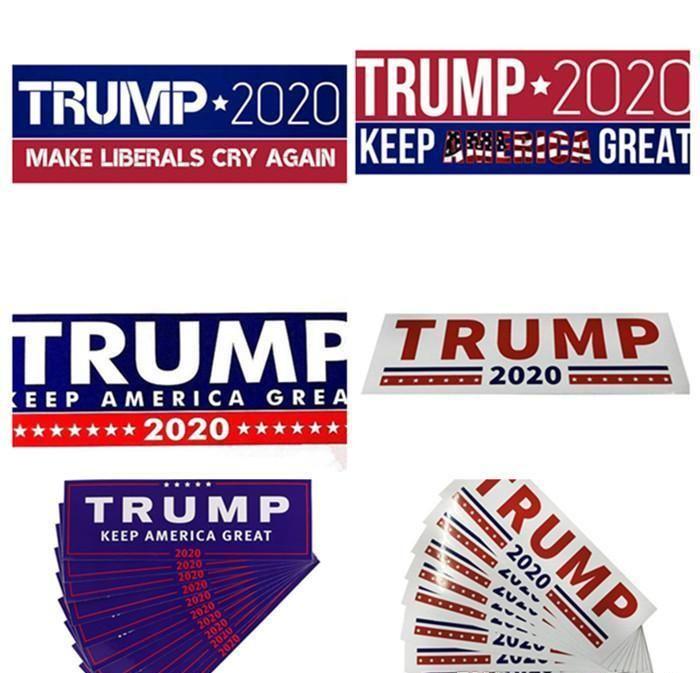 HOT Donald Trump 2020 Autocollants voiture 7,6 * 22.9cm autocollant pour voiture Gardez Marque Amérique Grande Decal pour la voiture Styling Véhicule Paster 3 Nouveaux styles ANbva