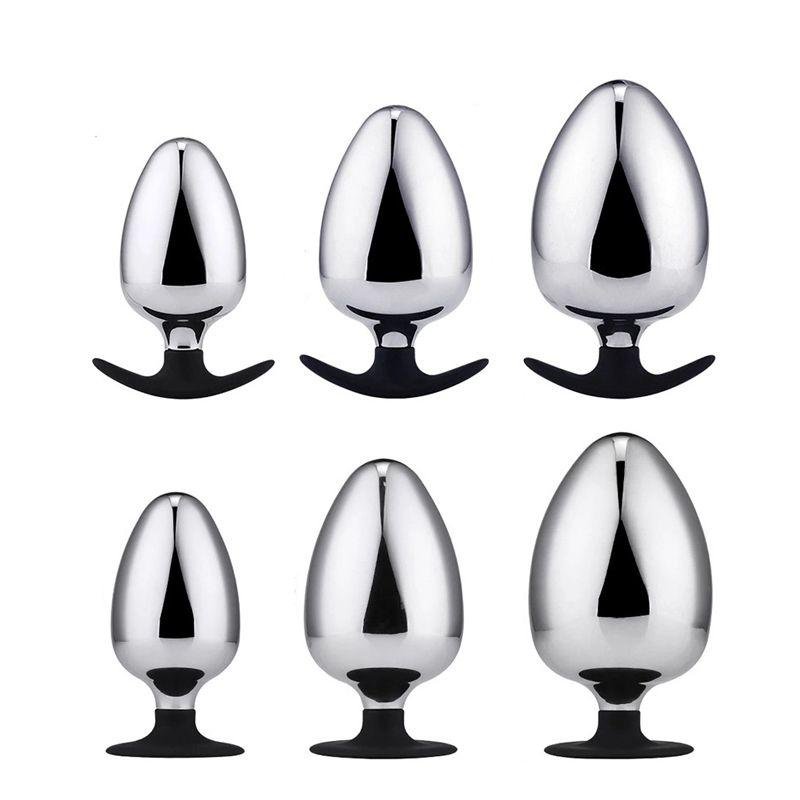 Dia 60 70 80 mm enorme Butt metal Plug anal Enchufe bolas anales Gran Expansión dilatador anal juguetes para las parejas Hombres Mujeres Gay T200915