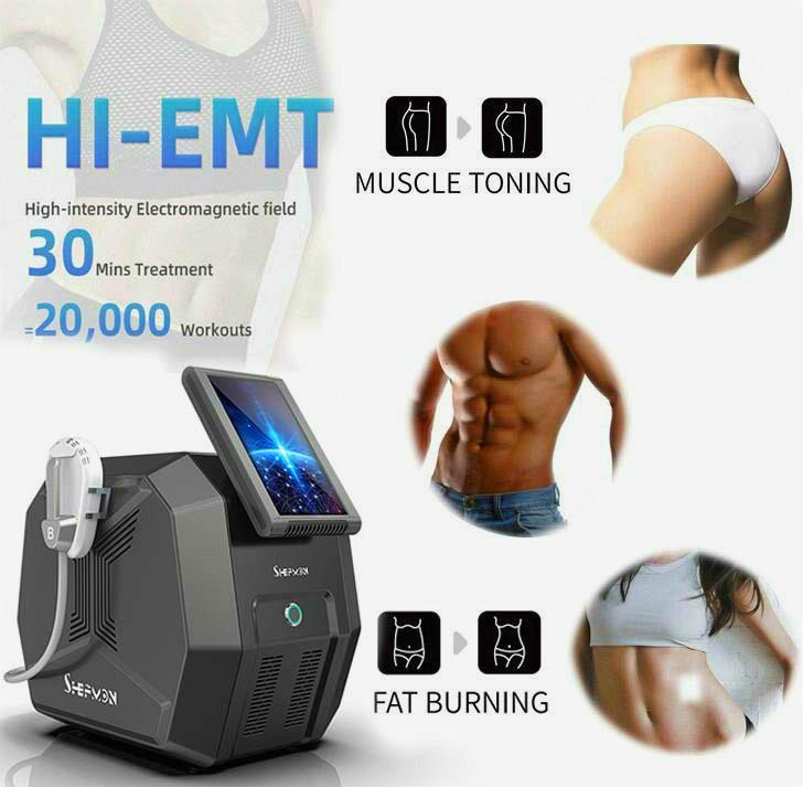 Top Verkauf Emslim Em schlank Maschine HIEMT Körper Sculpt Technologie Sculpting Muskelaufbau Fettentfernung Body Contouring für Männer und Frauen