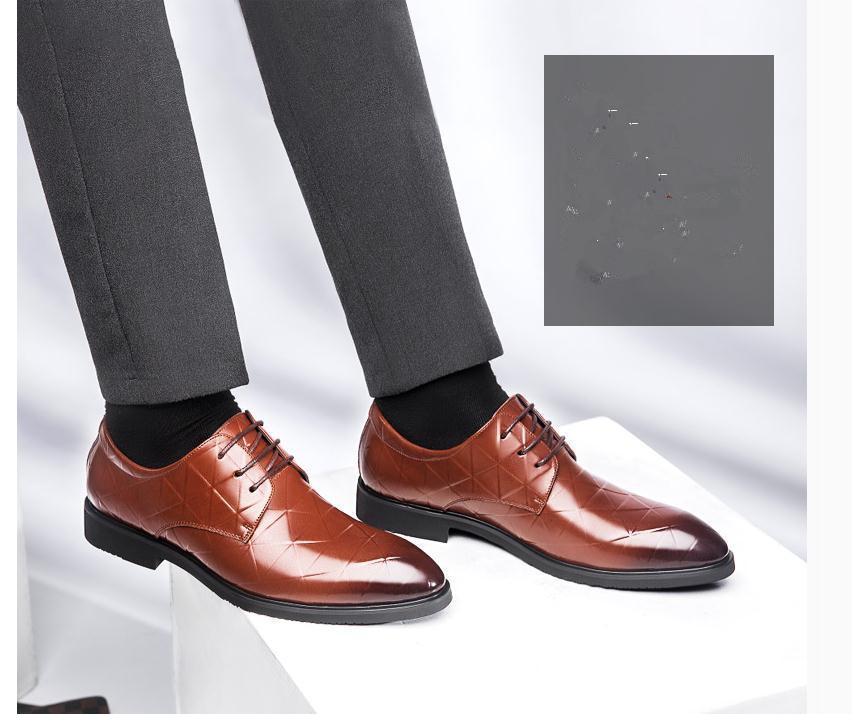 2020 весной и осенью с обувью Нового стиля мода низкого каблука заостренного концом мужской @ ZX170