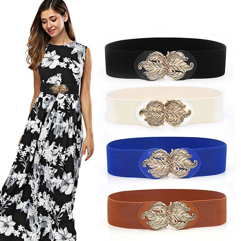 Designer de luxe Ceinture élastique Femmes Wasit Ceinture large ceinture Boucle extensible Wrap taille bande Cummerbund femmes