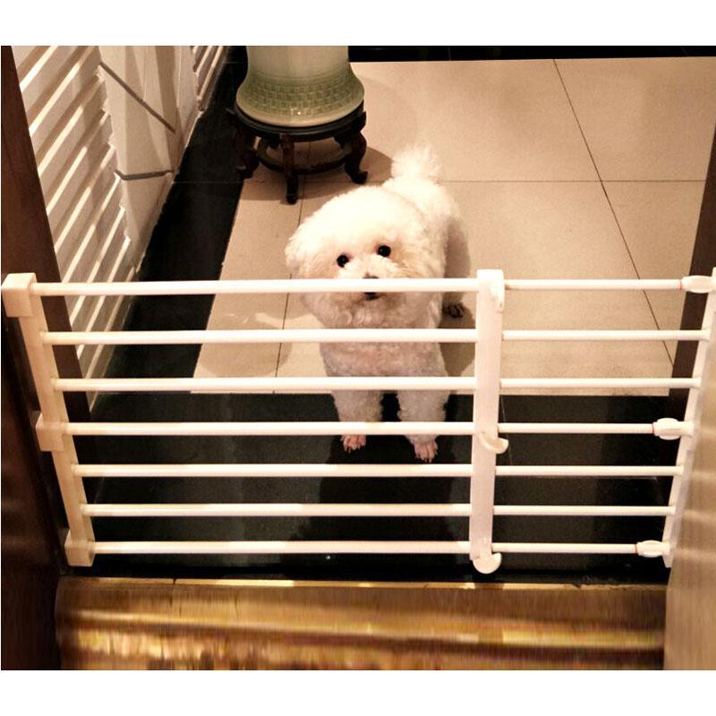 2 Size Adjustable Pet Dog Gate Dog Fence Pet Isolating Gate Indoor Playpen For Space Saving Closet Organizer