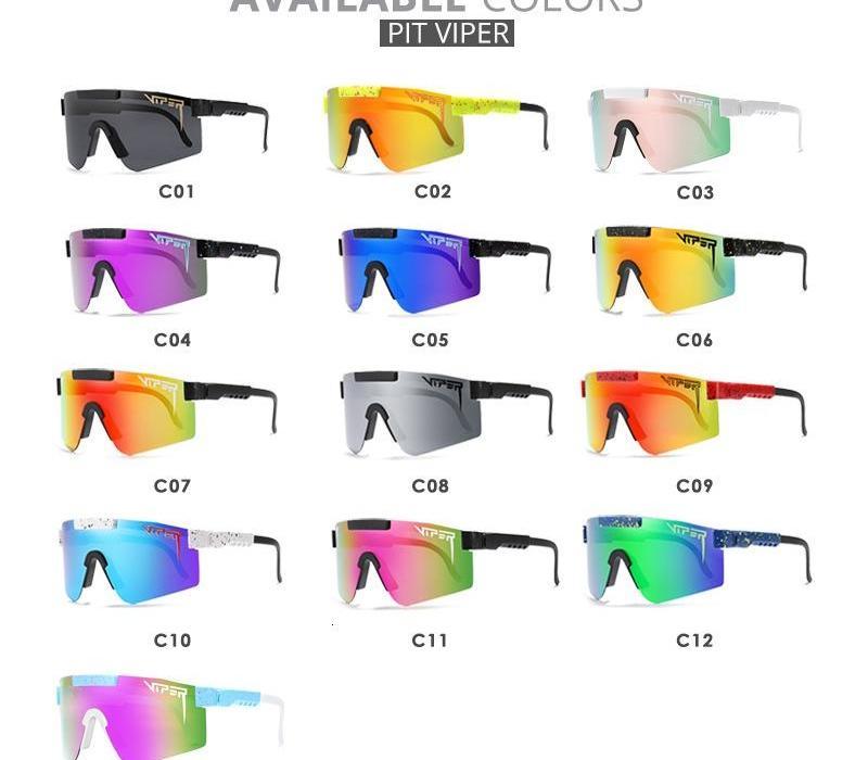 Hommes élégant surdimensionné TR90 polarisants Pit Viper Lunettes de soleil UV400 réglable Bouclier Gafas de sol Lens00 une pièce