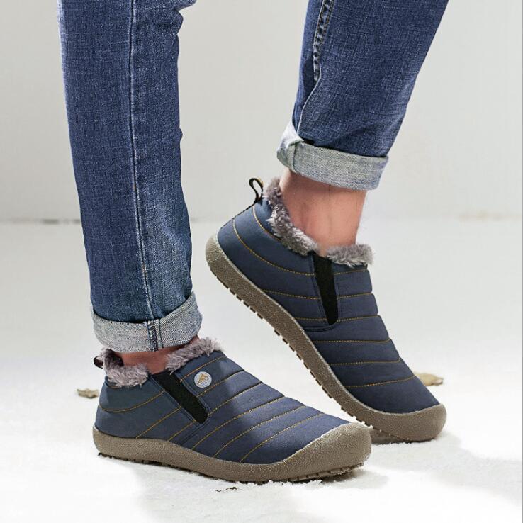 Scarpe Snow Boots vecchia Pechino cotone uomo inverno spesso Botas stivali antiscivolo piatto Stivaletti anziani Classic, tenere al caldo Casual Shoes DHF534