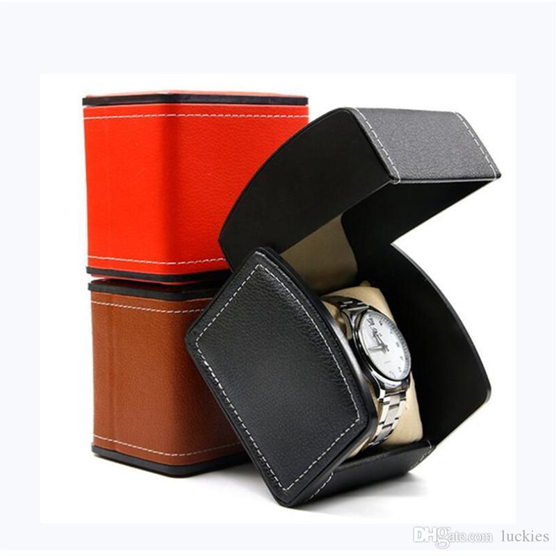cgjxs Fashion Watch Box Uhren Schmuck-Anzeigen-Kästen Kasten PU-Leder-Geschenk-Uhr-Kasten-Speicher-Uhr-Halter-Kasten