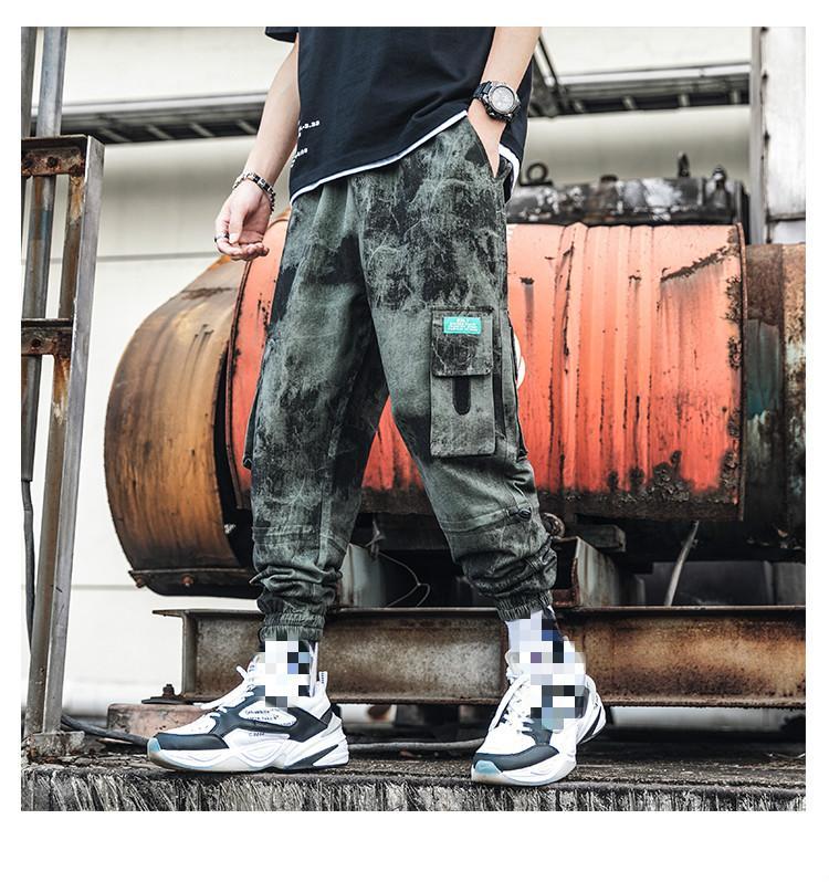 Sifan Marka Tasarımcı Erkekler Ayak bileği uzunlukta pantolon Hip Hop Kargo Pantolon Streetwear Japon Hip Hop Pantolon Erkek Koreli modası Koşucular