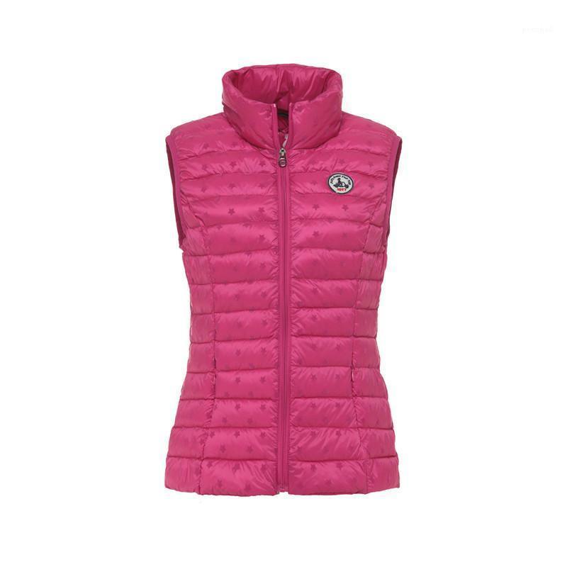 Chalecos sin mangas del diseñador del invierno de la chaqueta Slim Fit abrigos jott Mujeres Abajo