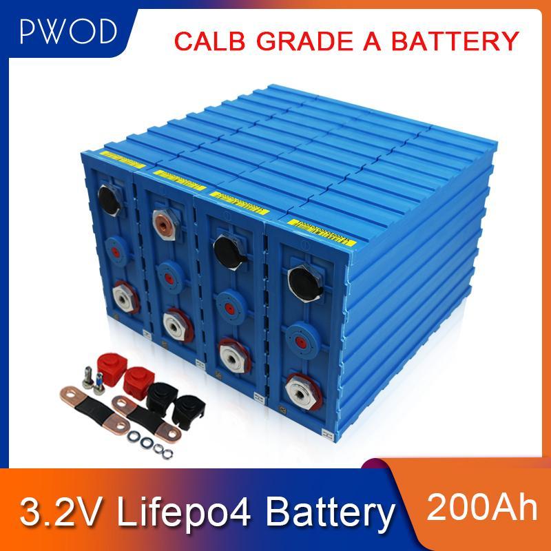 PWOD 32pcs GRADE A 3.2V200AH lifepo4 baterias de células de bateria CALB SE200FI 96V 12V 24V 48V Para Bicicleta elétrica / EV / Solar / golf barco