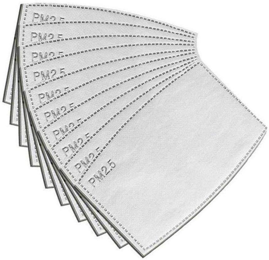 3-7 días a EE.UU. polvo anti Gotitas reemplazable Máscara de filtro de inserción para Máscara de papel Haze Boca PM 2.5 Filtros productos protectores 100pcs