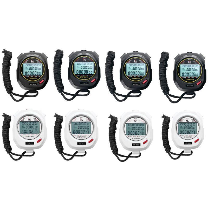 Três fileiras de 100 Cronômetro Timers Track and Field Preto Training and White 2 cores opcional temporizador a correr