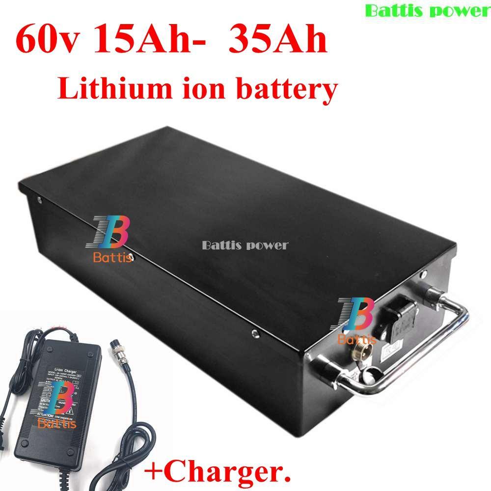 60V 20Ah 25Ah 30Ah 12Ah 15Ah 18Ah litio BMS batteria agli ioni di litio per X7 X8 X9 X20harley citycoco motorino bicicletta + caricatore