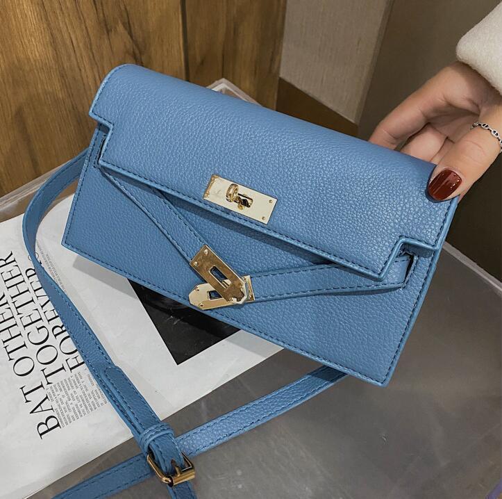wholesale women handbag sweet little fresh leather underarm bag multifunctional leather clutch bag new foreign blue women shoulder bag