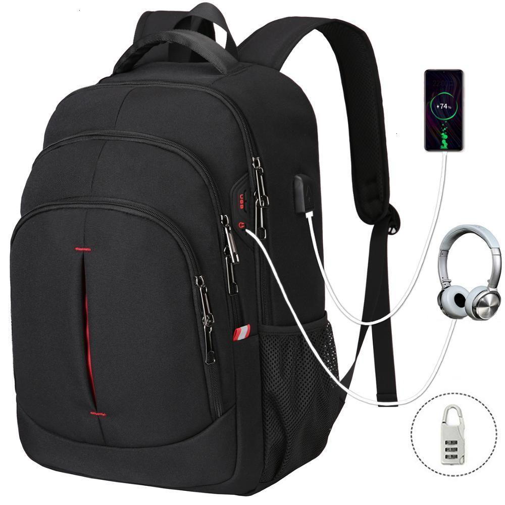 XQXA erkekler su geçirmez moda iş seyahat sırt çantası, çok işlevli laptop çantası 15,6 inç