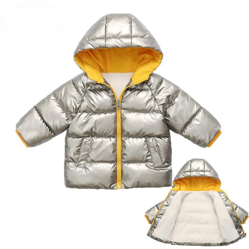 Children's Parkas Kids Winter Jacket For Girl Boys Winter Coat Warm Thick Velvet Hooded Baby Coats Outerwear Children's clothing designer