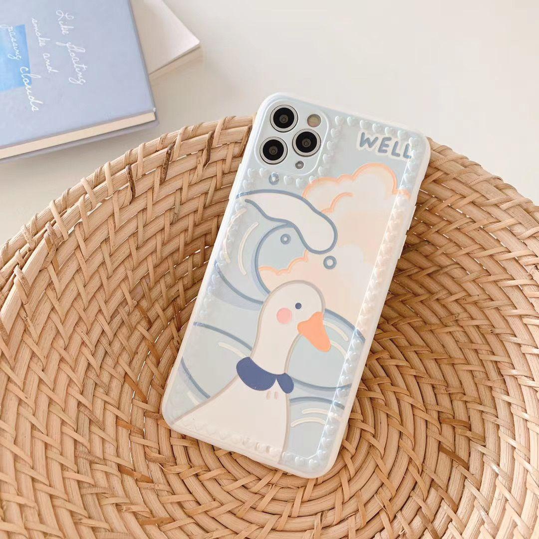 La manera del caso de IPhone Iphone 11 / 11Pro / 11P Max / XSMAX 7P / 8P 7/8 XR X / XS diseñadores Pato lindo Impreso cubierta del teléfono móvil caso todos
