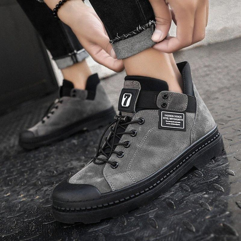 LASPERAL2019 Winter-Stiefel der Männer Knöchel Warm PU-Leder-Männer wasserdichte Schuhe Chaussure Schuhe für Herren Boots Schuhe Male Sneakers ROMT #