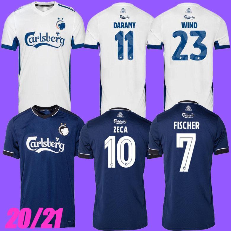 Thailand Qualität 2021 FC Kopenhagen Fußball Jersey Startseite 2020 2021 Camisetas Daramy Fischer Zeca Wind Falk Football Hemden