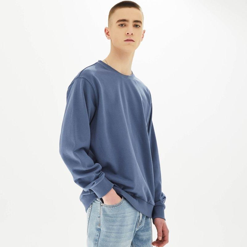 Metersbonwe Nueva Primavera multicolor comodidad la camiseta de los hombres de punto jersey de color sólido de los hombres de moda suelta apuesto sudadera 200923