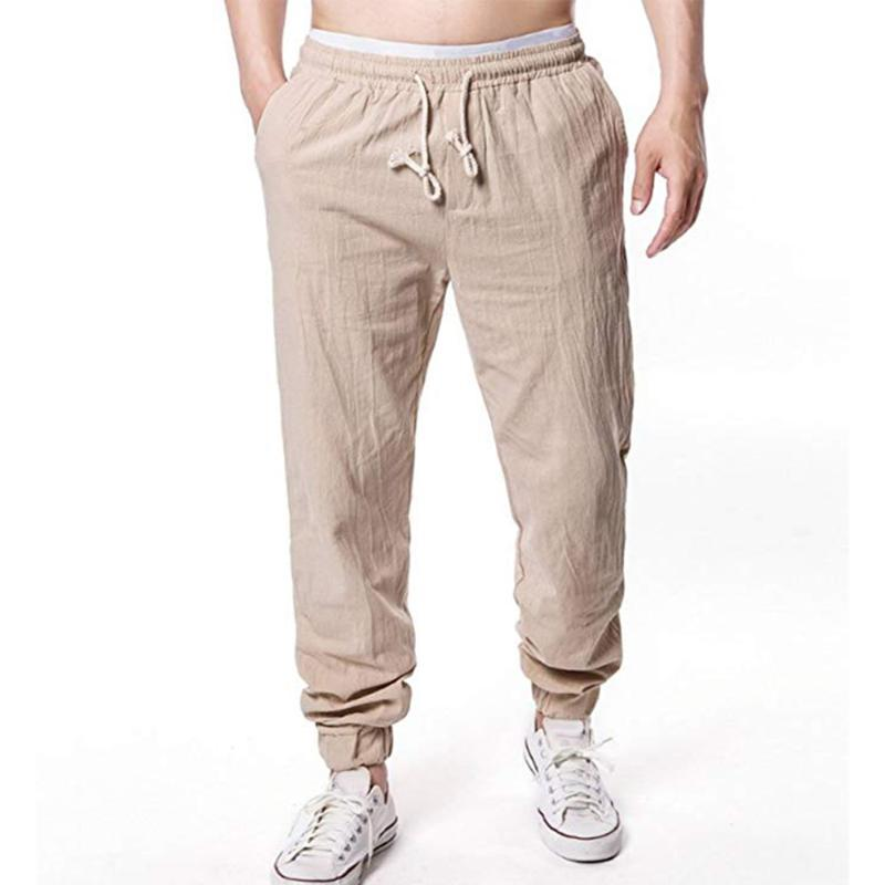 Solido pantaloni jogging Mens Bottoms Beach slacciano i pantaloni causale