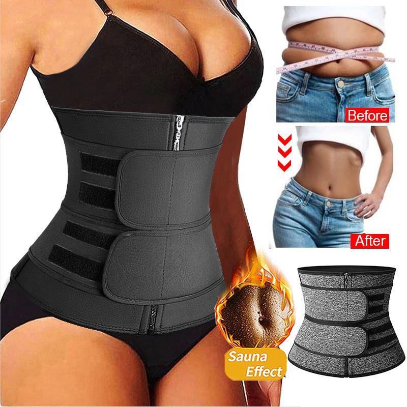 Mulheres cintura treinador neoprene shaper shaper cinturão de emagrecimento belly reduz a barriga shaper barriga suor shapewear treino shaper espartilho