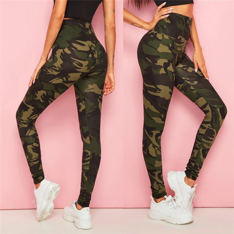 Fashion Yoga Pants Womens Camouflage Printing Leggings Tightening Sports Casual Yoga Pants plus size gym sportswear &4o10