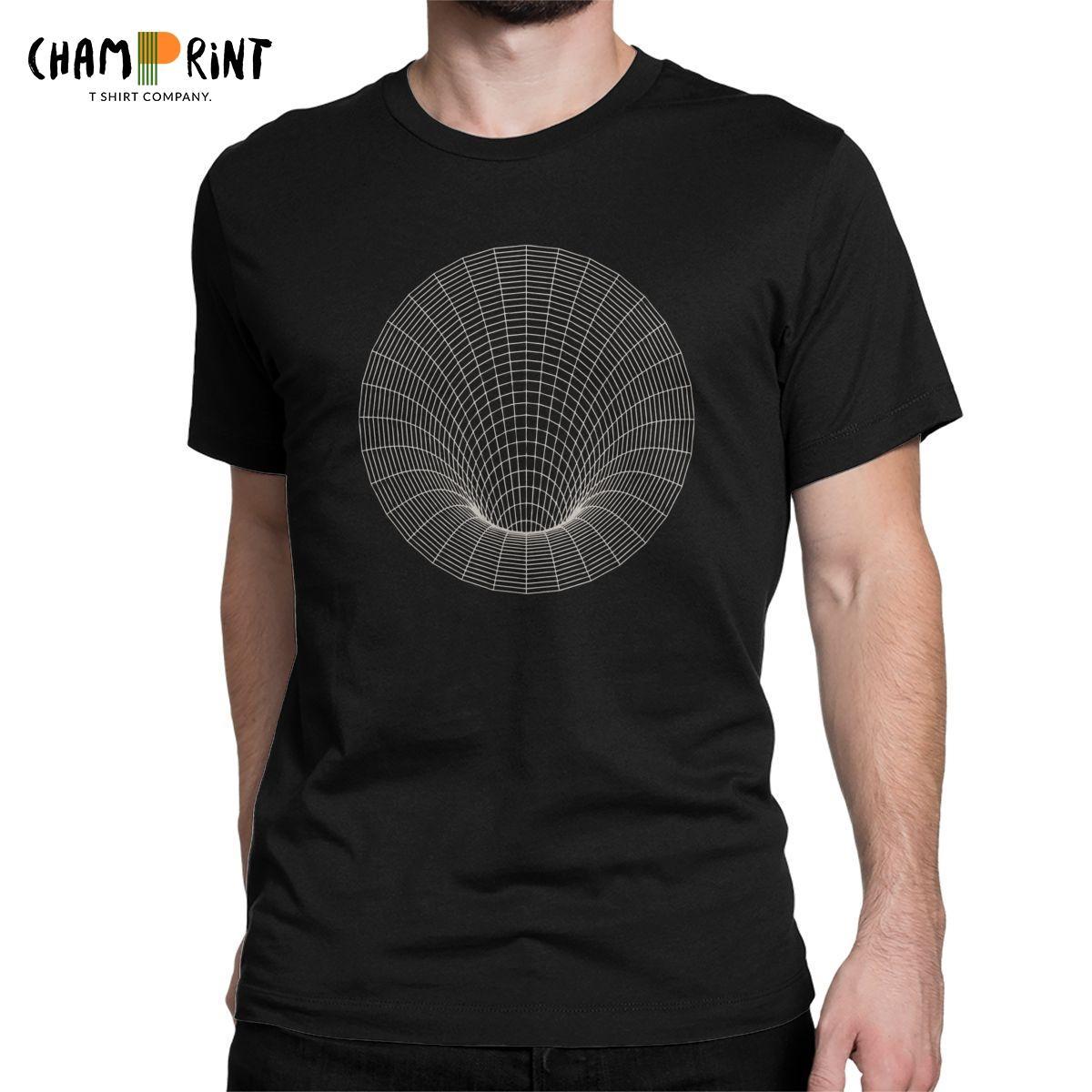 Hommes T-shirt Event Horizon Mode T-shirts à manches courtes en coton pur drôle geek science physique Scientist T-shirts Vêtements d'été
