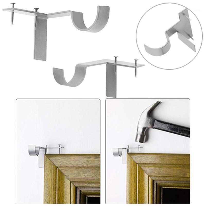 2 X Vorhang Rod Bracket Kwik Hang Vorhang Rod Halter Tippen Sie rechts in Fensterrahmen Bracket1