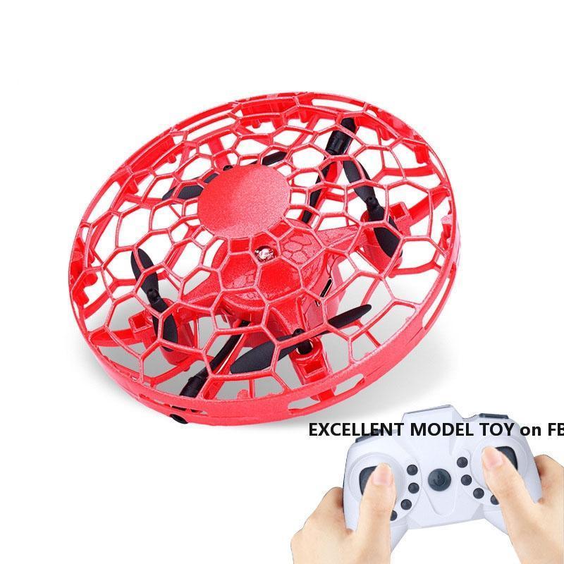 FLX-Fernbedienung UFO-Spielzeug, Geste Sensing interaktiver Drohne, Höhe halten Quadcopter, UAV mit bunten Lichtern, Weihnachtskind-Geburtstagsgeschenk, 3-2