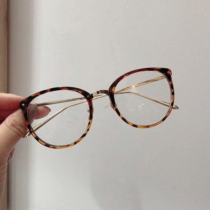 Nuovo arrivo Telaio grandi occhi rotondi design Revival vetri ottici di plastica con i piedini Full Metal modo delle donne di Eyewear all'ingrosso