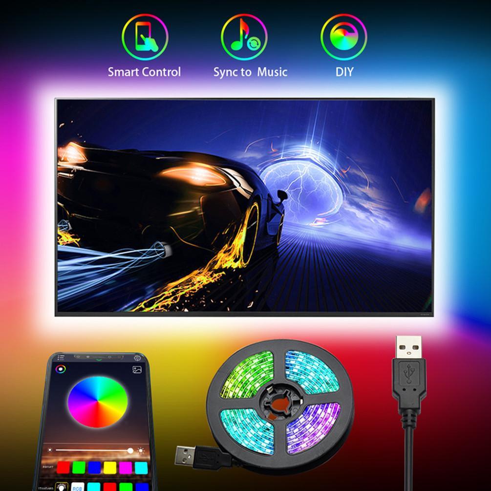 DC5V USB Cable LED Lámpara de luz SMD 5050 TV Fondo Kit de iluminación Desktop Fondo Lámpara para TV Pantalla de pantalla