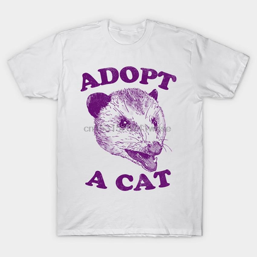 Adoptez un chat T-shirt Possum T-shirt Adopt Adoption Kitteh Lolcat faune marsupial Animaux Animaux Mémé
