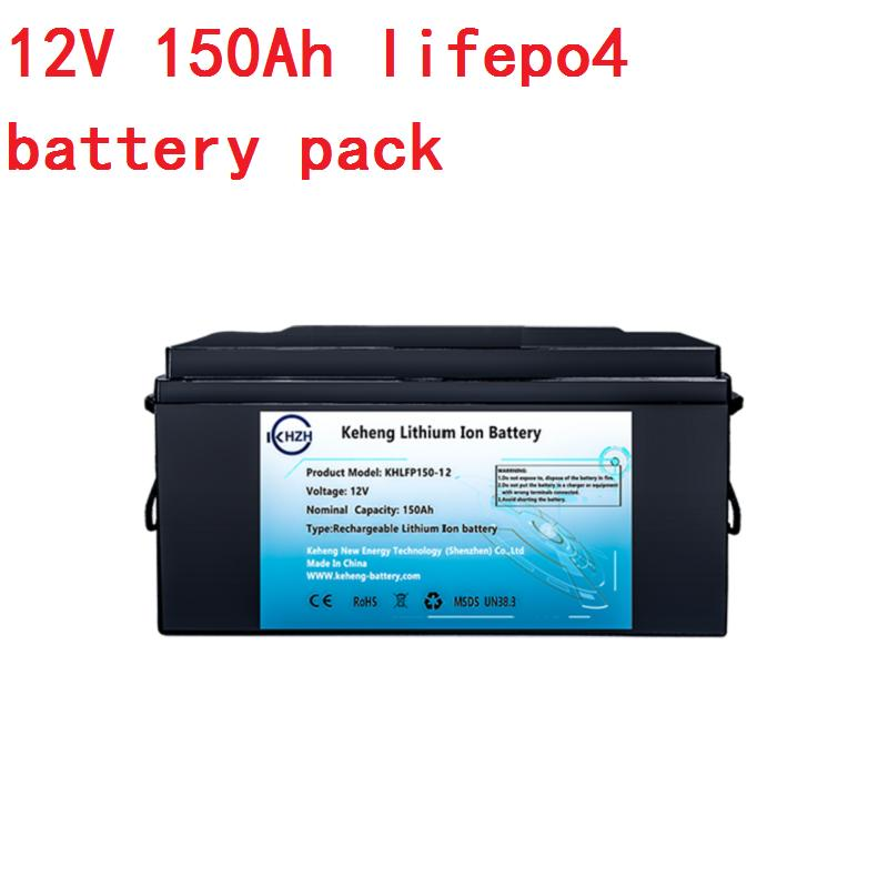 RV güneş sistemi Golf yat için BMS ile LiFePO4 12V 150Ah 1800wh 12.8v lityum iyon pil takımı