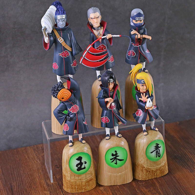 Naruto Shippuden Akatsuki Uchiha Obito Itachi Deidara Hoshigaki Kisame Hidan Kakuzu PVC Figure Sammlerfigur Spielzeug Y200811