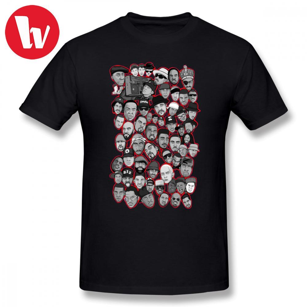 Urban shirt Tee Old School Hip Hop Legends arte da colagem T-shirt dos desenhos animados Imprimir básico Camiseta AwesomeGraphic Oversized camisetas