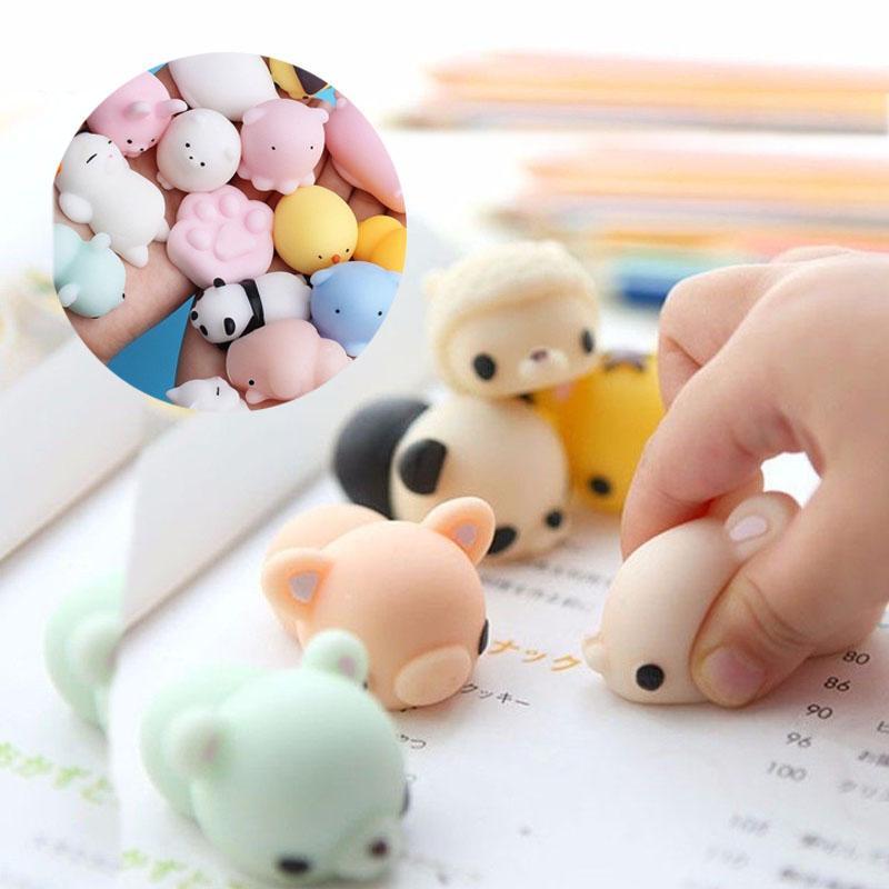 10 PCSE çocuk dekompresyon oyuncaklar, çizgi film, mini sevimli hayvanlar, yumuşak oyuncaklar, anne ve çocuk ürünleri, bebek ürünleri