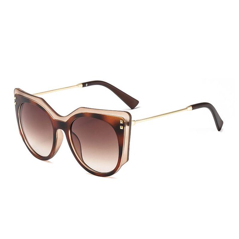 Dekoration1 Weibliche Cateye VeShion Designer Sun Sonnenbrille Marke Brille Für übergroße elegante Luxus Vintage Frauen Gesicht Groß Lesto