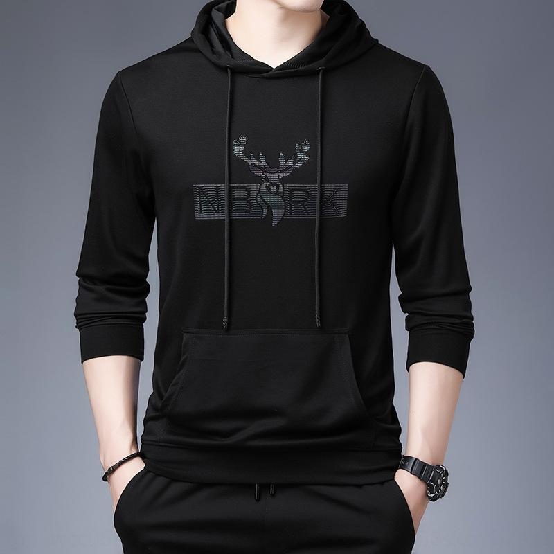 tY6J8 yeni kazak erkekler için moda dikkatine 2020 sweaterAutumn Öde erkek Bucks mektupları erkek kapüşonlu rahat kazak EHnLZ