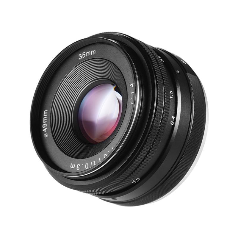 35 mm f / 1.7 Mise au point manuelle Objectif premier objectif Mirrorless Grand Ouverture pour Portrait Photographie pour Sony E Mont NEX3 ILDC Caméras