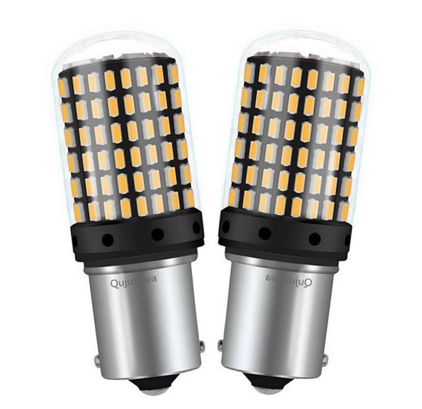 2 pezzi No Hyper Flash PY21W BAU15S dell'automobile LED indicatore di senso lampade CANBUS ERRORI 1156PY 7507 auto turn segnale luci ambrate