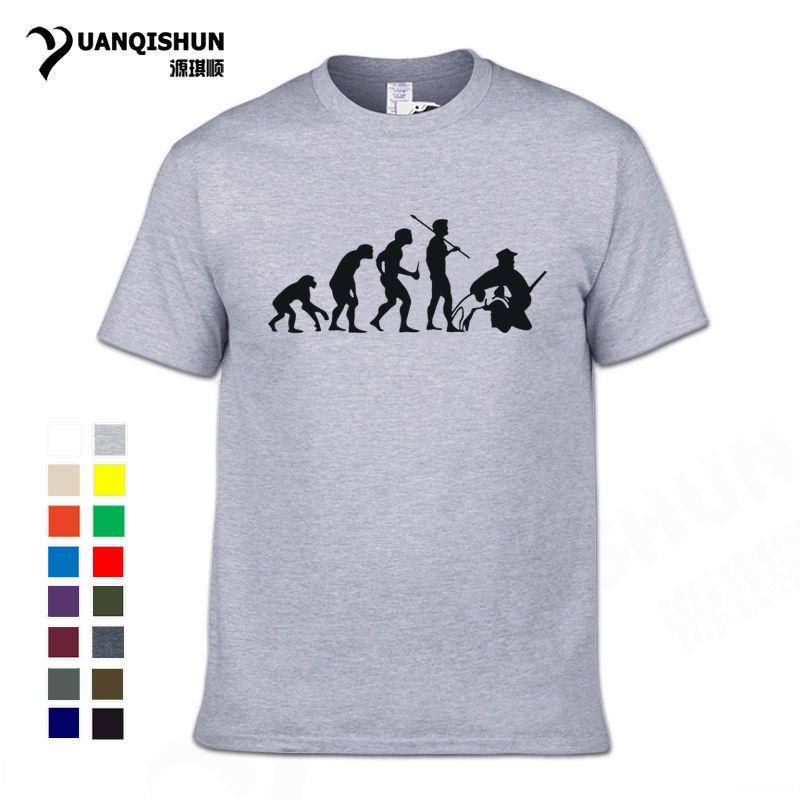 camicia divertente Hunt Evolution Tshirt Club Hunter T di alta qualità del cotone puro Boutique maglietta 16 colori unisex T di trasporto