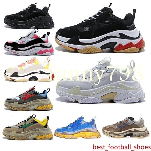 la moda de lujo de los hombres calientes corredor de la onda triple de las mujeres s hombres altos Zapatos Zapatos para hombre Scarpe femmes Speed Trainer zapatos zapatillas de deporte