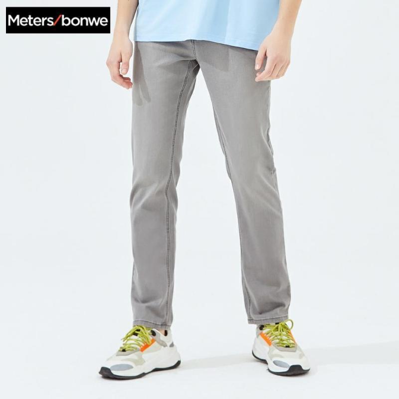 Metersbonwe Düz Jeans Erkekler 2020 İlkbahar Yaz Yeni Casual Gençlik Trend Jeans Erkek Pantolon Erkek Pantolon 757358
