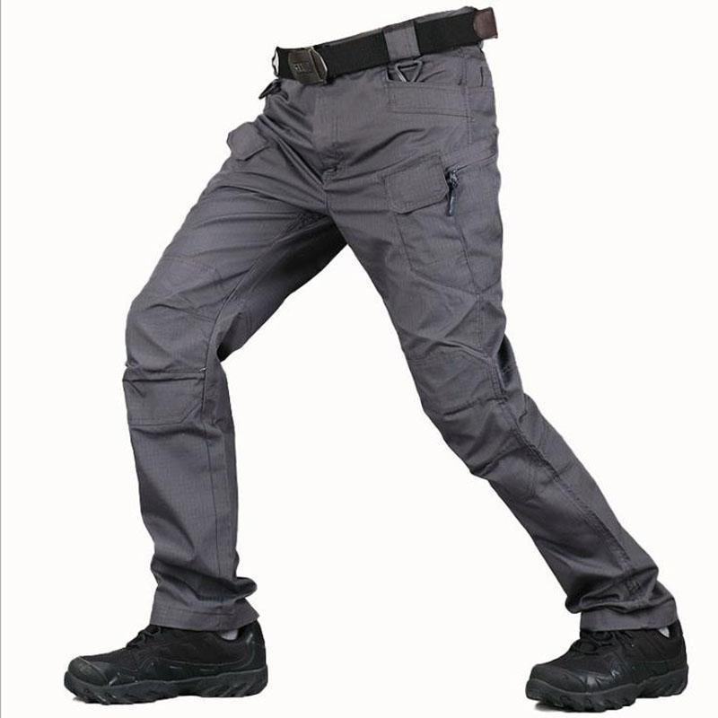 Pantalones tácticos para Casual Mans verano Camo pantalones Sweatpants ejército del Mens Pantalones cargo ocasional de sudor masculino impermeable de trabajo