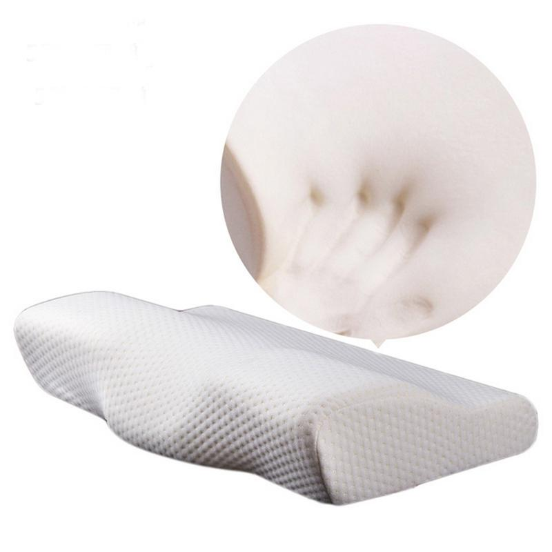 Memory Foam Bedding Pillow Neck Protection Slow Rebound Memory Foam Butterfly Pillow Healthy Cervical Spine 50*30CM