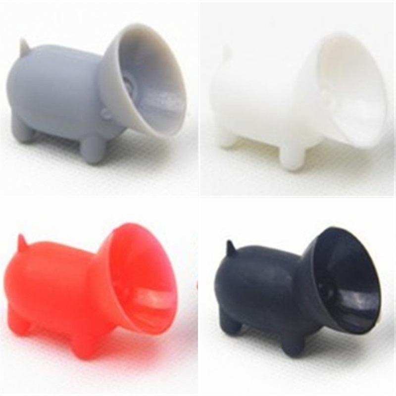 Silicone Bonne viscosité Téléphone Titulaire Sucer disque Supports Forme de porc coloré Bases Support Multi Fonction 0 43sh Réceptions E2