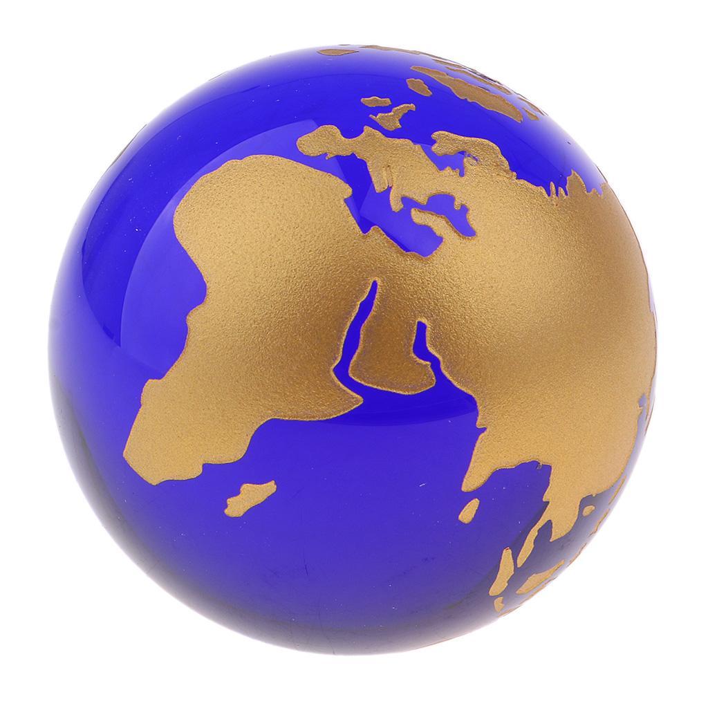 Crystal Ball 60mm Blue Earth Handmade Искусство Поделки для домашнего офиса украшения