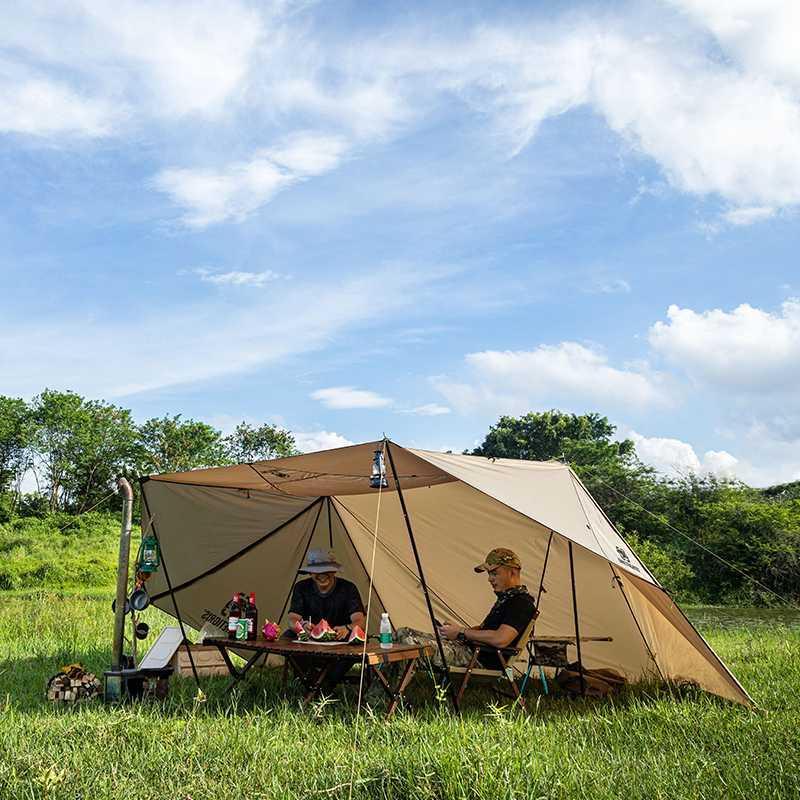 الخيام والملاجئ Onetigris ROC Shield Bushcraft خيمة ملجأ للتخييم القابلة للتكوين مع أقطاب الشاطئ للتراجع Backcountry