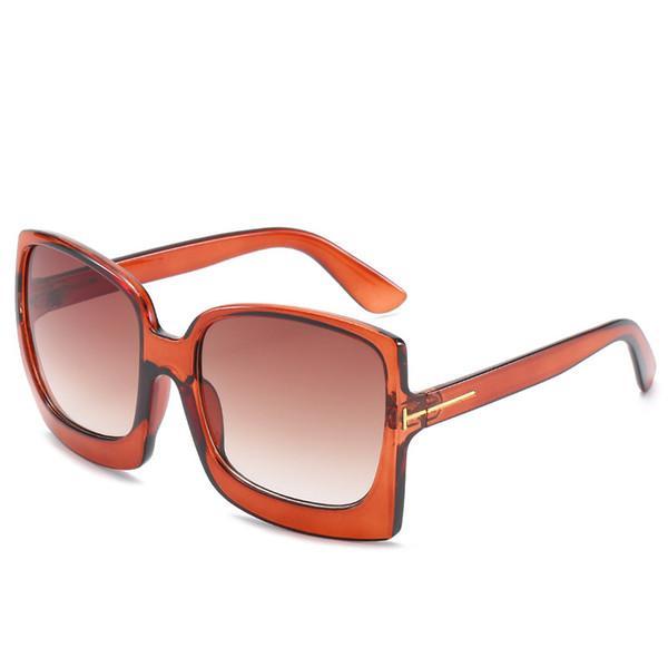 2020 Higodoy Moda Oversized Mulheres Sunglasses Plastic Feminino Big Quadro Gradiente óculos de sol UV400 gafas de sol mujer
